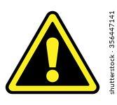 hazard warning attention sign.... | Shutterstock . vector #356447141