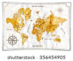old map  vector illustration | Shutterstock .eps vector #356454905
