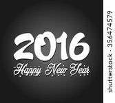 happy new year 2016 vector | Shutterstock .eps vector #356474579