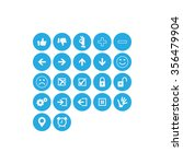 function icon set  blue | Shutterstock .eps vector #356479904