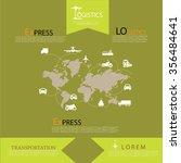 logistics technology concept...   Shutterstock .eps vector #356484641