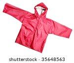children's wear   red raincoat... | Shutterstock . vector #35648563