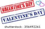 set of valentine's day grunge... | Shutterstock .eps vector #356492261