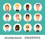 pixel art people circle  shaped ... | Shutterstock .eps vector #356494541