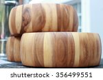 wooden barrels used to wash the ... | Shutterstock . vector #356499551