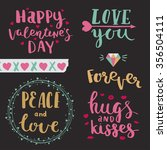 happy valentines day. love you. ... | Shutterstock .eps vector #356504111