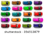 top view on colorful car toys | Shutterstock . vector #356513879