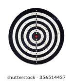 red bulls eye on a dart bord ... | Shutterstock . vector #356514437