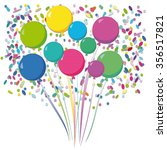 balloons and confetti | Shutterstock .eps vector #356517821