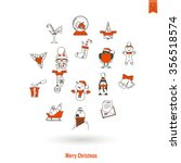 christmas and winter icons...   Shutterstock . vector #356518574