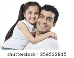 portrait of father and daughter ... | Shutterstock . vector #356523815