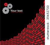 red gears background | Shutterstock .eps vector #35652733