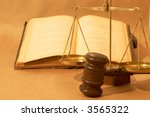 legal concept with gavel  books ... | Shutterstock . vector #3565322