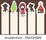 trendy little red riding hood...   Shutterstock .eps vector #356534384