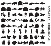 many police silhouettes 2   Shutterstock .eps vector #35654308