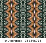 colorful vertical ornament with ... | Shutterstock .eps vector #356546795
