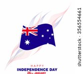 australian independence day | Shutterstock .eps vector #356554661
