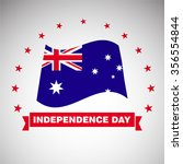 australian independence day | Shutterstock .eps vector #356554844