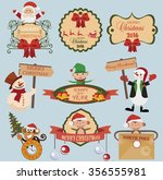new year holiday icons and... | Shutterstock .eps vector #356555981