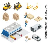 warehouse building   exterior.... | Shutterstock .eps vector #356557391