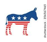american democrat mule vector