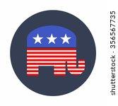 american republican elephant... | Shutterstock .eps vector #356567735