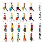 people shopping design  vector... | Shutterstock .eps vector #356574944