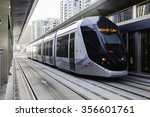 dubai  uae   oct 2  new tram... | Shutterstock . vector #356601761