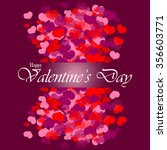 valentines day card. happy... | Shutterstock .eps vector #356603771