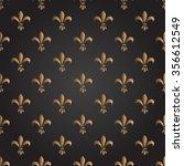 fleur de lis seamless vector... | Shutterstock .eps vector #356612549