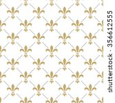 fleur de lis seamless vector... | Shutterstock .eps vector #356612555