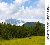 Mountains landscape - stock photo