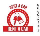 rent a car design  vector... | Shutterstock .eps vector #356615339