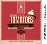 fresh farm product poster... | Shutterstock .eps vector #356622659