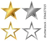 Gold And Silver Stars Vector...
