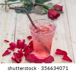 natural rose water drink cool | Shutterstock . vector #356634071