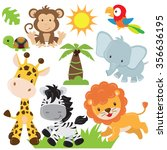 Jungle Animals Vector...