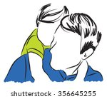father and son illustration 2 | Shutterstock .eps vector #356645255