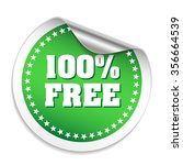 green 100 percent free sticker...
