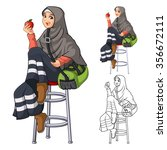 muslim woman fashion wearing... | Shutterstock .eps vector #356672111
