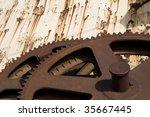Rusty Sugar Milling Gears