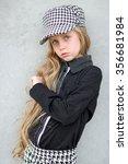 portrait of little girl... | Shutterstock . vector #356681984
