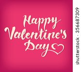 happy valentine's day vector... | Shutterstock .eps vector #356687309
