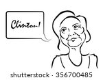 hillary clinton caricature with ... | Shutterstock .eps vector #356700485