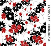 vector seamless floral pattern. ... | Shutterstock .eps vector #356720765