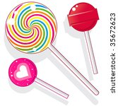 lollipops and suckers.  vector... | Shutterstock .eps vector #35672623