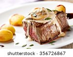 fillet of beef with mushroom... | Shutterstock . vector #356726867