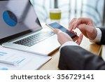 business man checking finance... | Shutterstock . vector #356729141