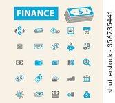 finance  bank  credit  savings  ... | Shutterstock .eps vector #356735441