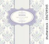 wedding invitation cards ... | Shutterstock .eps vector #356739545